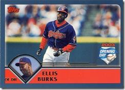 Topps 2003 Opening Day Ellis Burks