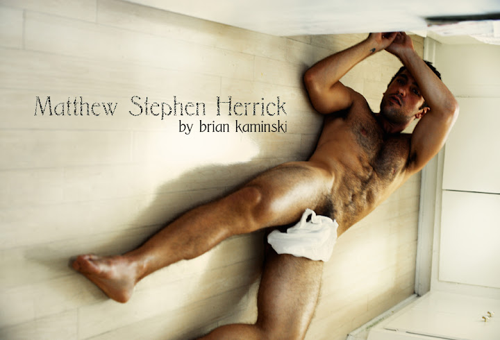 beautiful and allover hairy sexy matthew stephen herrick lying on the bathroom floor nude his trunks covering his genitals