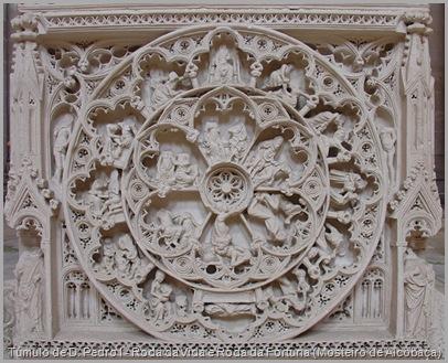 Túmulo de D. Pedro I - Roda da Vida e Roda da Fortuna (Mosteiro de Alcobaça)