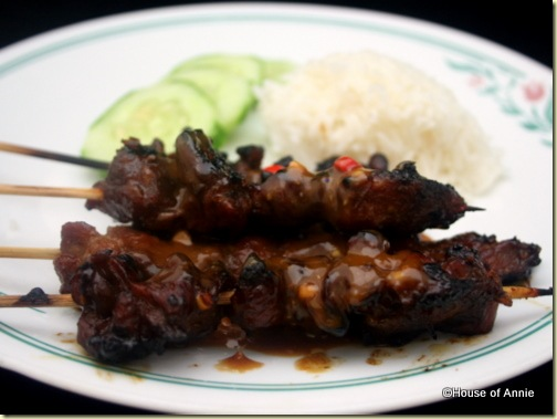 Indonesian Pork and Chicken Satay 2