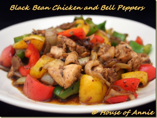 Black Bean Chicken and Bell Peppers Stir-fry | House of Annie