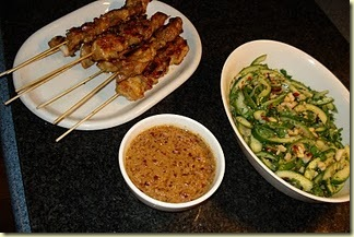 Chicken Sate - twice cooked duck