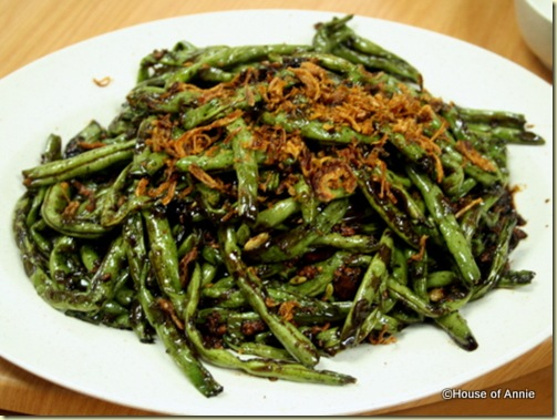 fried green beans at penang seafood restaurant