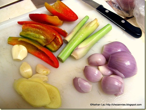 Ingredients for Fragrant Chicken Wings