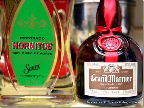 Sauza Hornitos Reposado Tequila and Grand Marnier for Homemade Margaritas