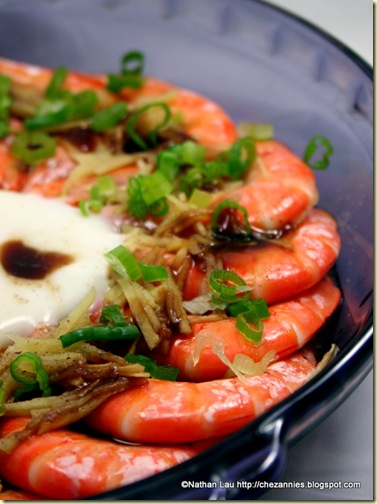 Steamed Shrimp with Ginger and Green Onions