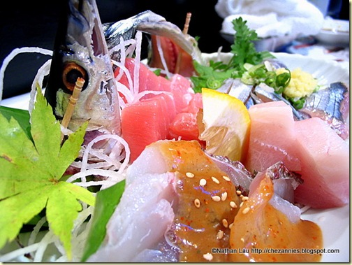 Sanma Sashimi Platter at Sushi-Man (San Francisco)