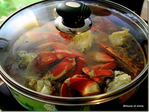 Cioppino Hot Pot Boiling