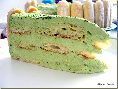 Slice of Green Tea Tiramisu