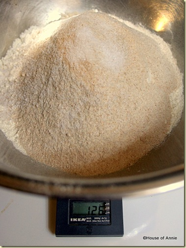 Bread Flour, Whole Wheat Flour, Yeast and Salt