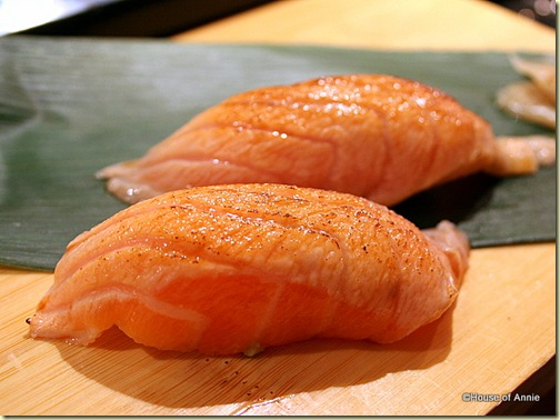  Torched Salmon Sushi at Sakae Sushi in Burlingame