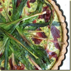 GYO 27 Ramp Bacon Ricotta Tart Eggs on Sunday Amy