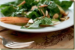 GYO 27 Spinach Salad Toasted Almonds White on Rice Couple Diane