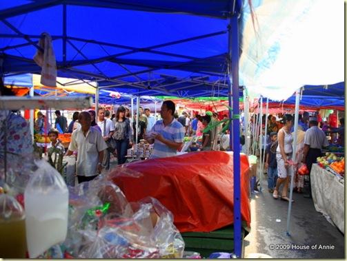 Satok Market under the canopies