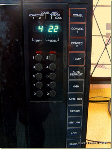 Toshiba Combination Microwave Convection Oven panel