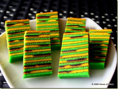lapis masa manis - 'sour-sweet' sarawak layer cake - copyright house of annie