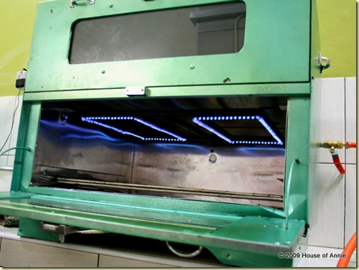 gas-fired oven for baking sarawak layer cakes - copyright house of annie