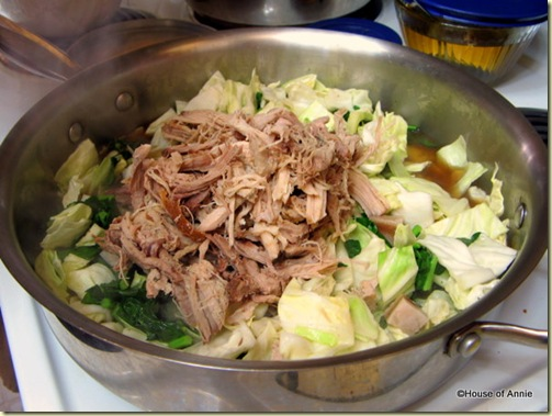 Cooking Kalua Pig with Cabbage