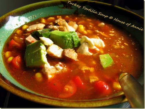 Thanksgiving Turkey Leftovers: Turkey Tortilla Soup | House of Annie