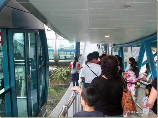 singapore flyer boarding platform