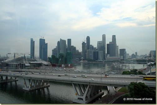 east coast parkway and the marina from the singapore flyer