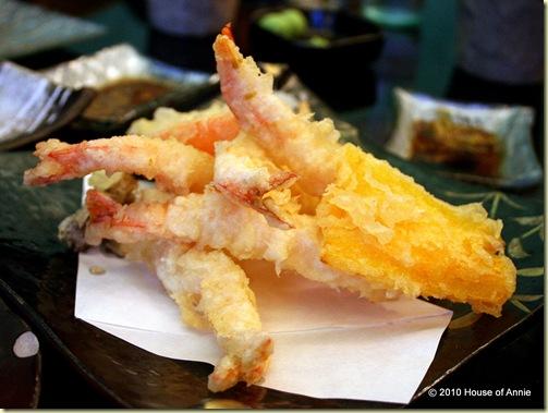 shrimp tempura hibiki restaurant singapore