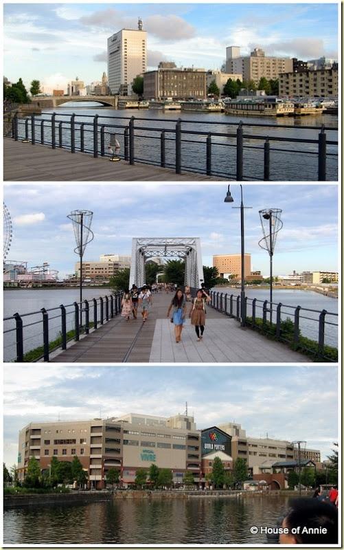 minato mirai bridge to world porters mall