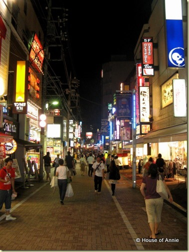 machida street at night