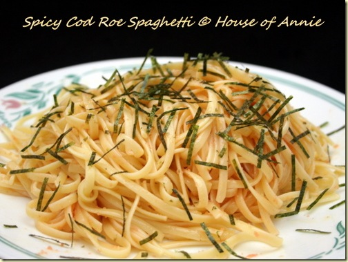 tarako spicy cod roe spaghetti