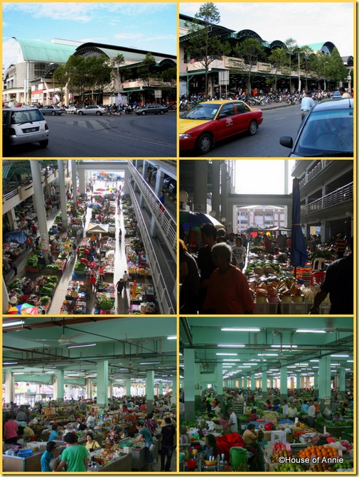 Sibu Central Market Exterior Native and Interior
