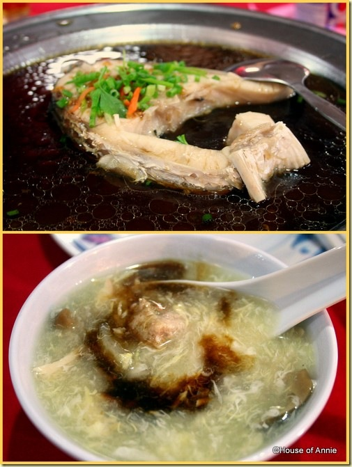 Hung Kiew Kee Restaurant Sarikei steamed fish egg drop soup with sea cucumber