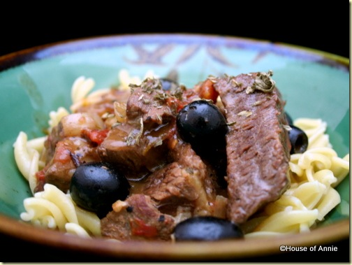 Beef Stew with Tomatoes Orange Zest and Olives