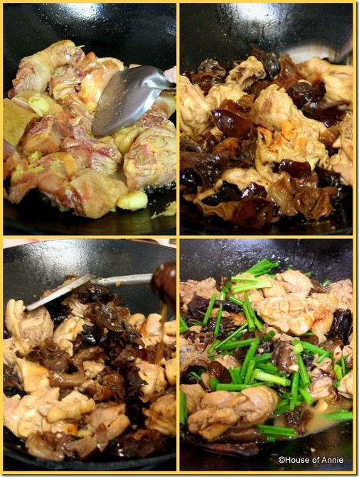Cooking Chicken with black fungus
