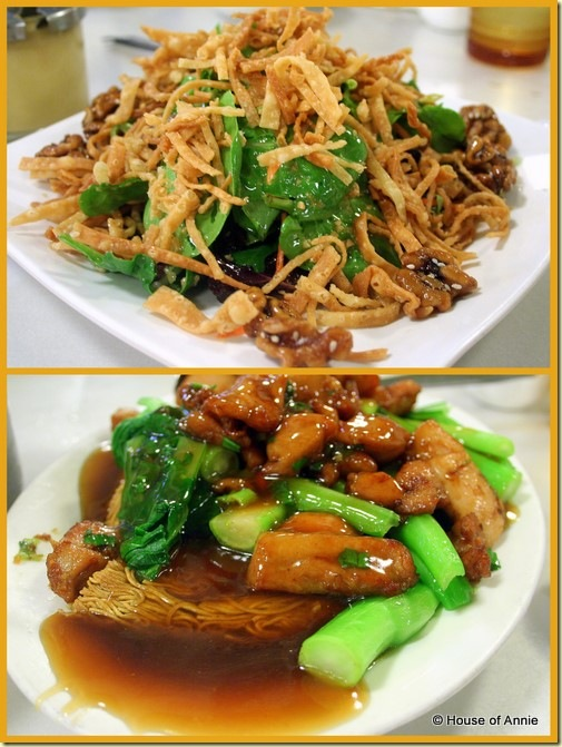 Pah Ke's citrus salad and minute chicken cake noodle