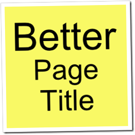 Better Page Title Blogger