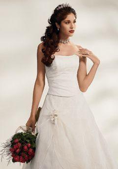 Peinados de novia hacia un lado