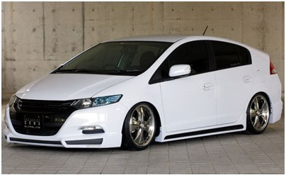 Tuning version of Honda Insight in the Japanese style