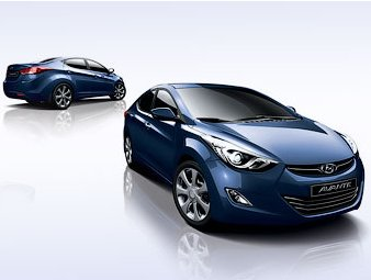 New Interior of Hyundai Elantra