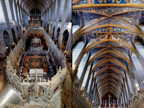 Intérieur et voûte de la cathédrale Sainte-Cécile d'Albi
