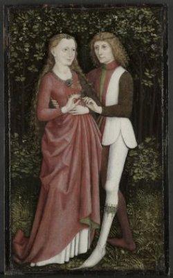 Un couple d'amoureux - Maître anonyme allemand