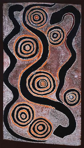 Snake dreaming - Peter Blacksmith Japanangka