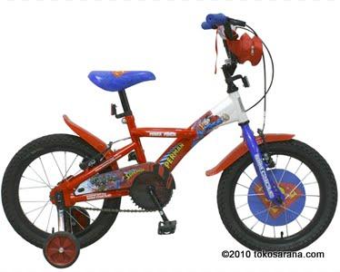 Sepeda Anak WIMCYCLE BMX Superman 16 inci