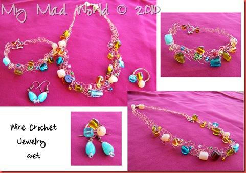 wire crochet jewelry set