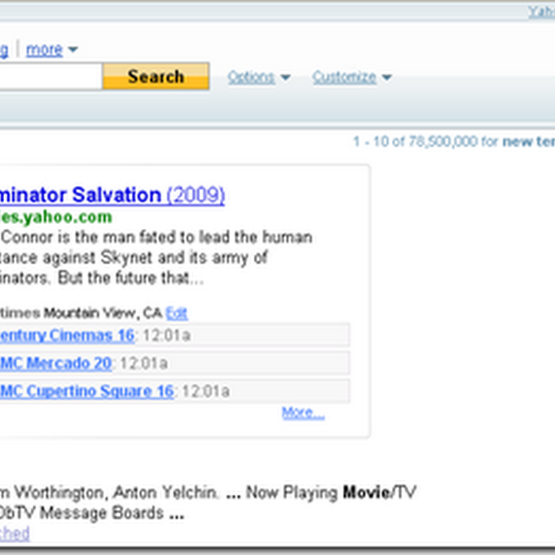 Yahoo Announces New Model of Search