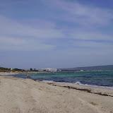 ...am längsten Sandstrand von Formentera