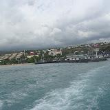 Über der Insel hängen fast immer dicke, graue Wolken
