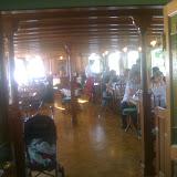 Nostalgisches Restaurant auf dem Schiff