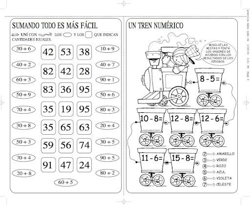 Actividades matematicas para niños de preescolar - Imagui