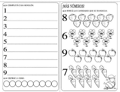 Ejercicios de matematicas para tercer grado de preescolar - Imagui
