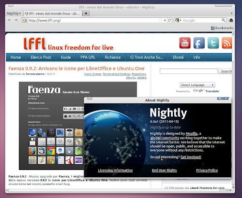 Firefox 6.0 Nightly